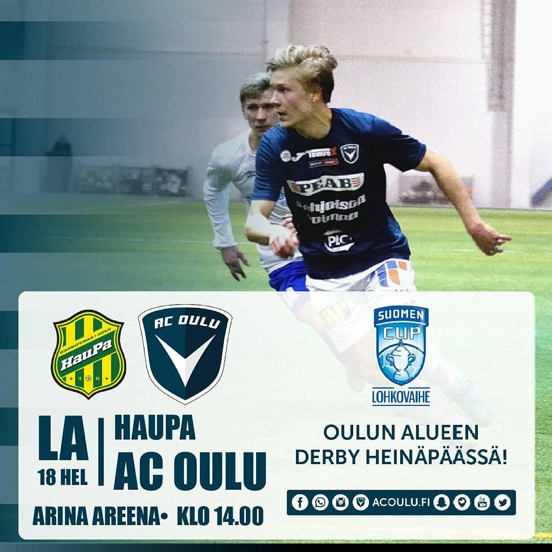 Huomenna taas Cupia Heinpss! ACOulu Oulu HauPa SuomenCup