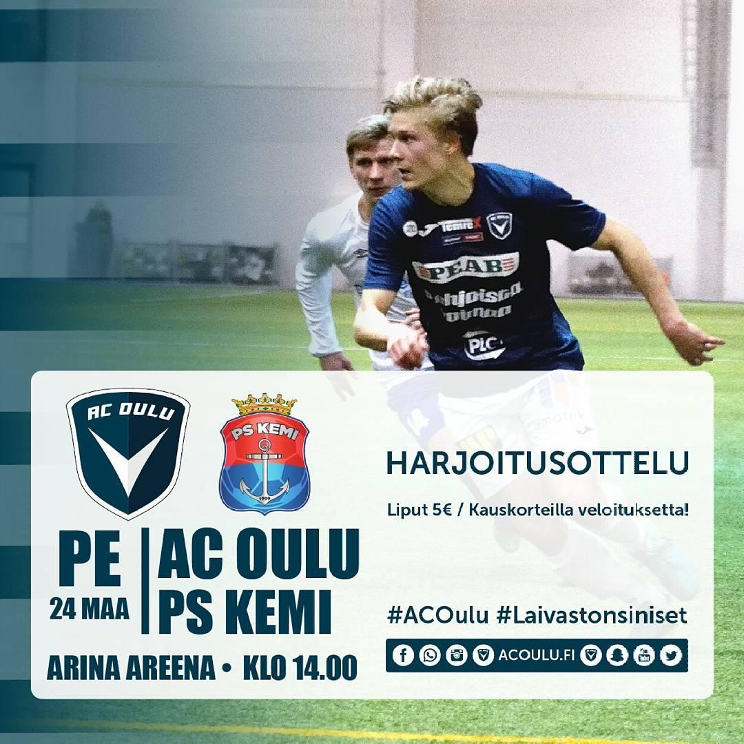 Huomenna perjantaina treenipeli PS Kemi vastaan klo 1400 Arina Areenalla!hellip
