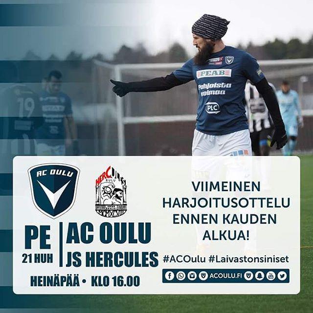Huomenna preseasonin viimeinen harjoitusottelu ennen Ykksen alkua! ACOulu Oulu Ykknen
