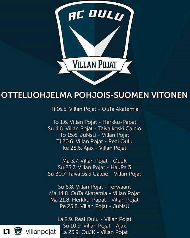 Repost villanpojat  Gameday ja krkikamppailu! Real Oulu saapuu Villanpoikienhellip