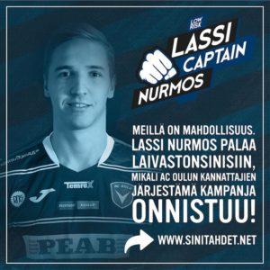 Milt kuulostaisi Lassi Nurmoksen paluu AC Oulun takalinjoille?! Nyt sehellip
